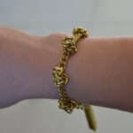 Vintage inspired knot and chain bracelet DIY